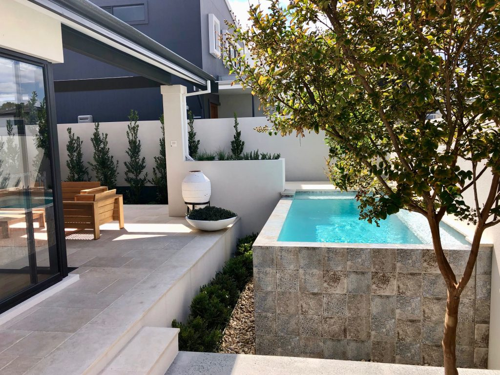 swimming pool concrete and stone by premier constructed