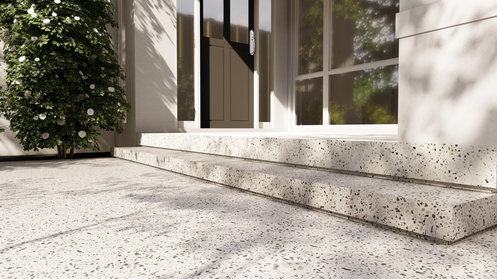 Davies Residence Applecross Honed Concrete negative detailed steppers steps luxury limecrete design high quality