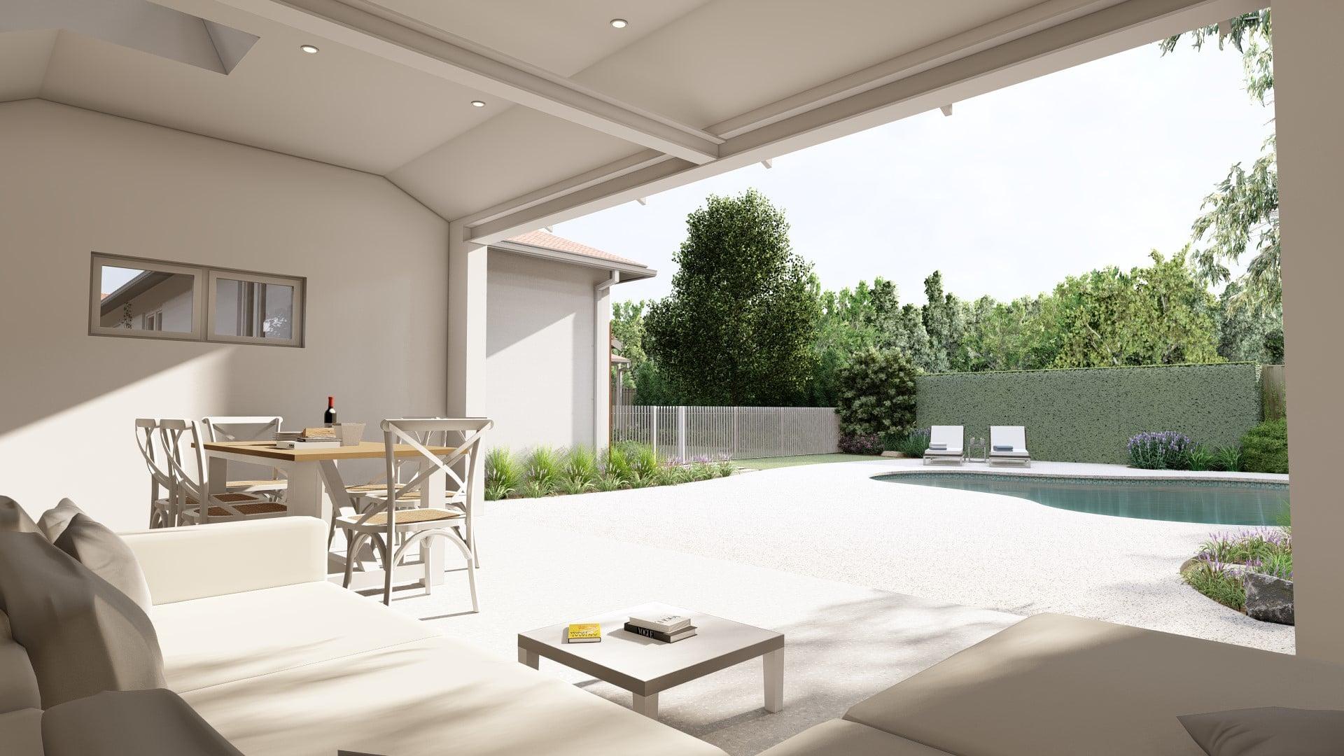 perth pool house 3d landscape design