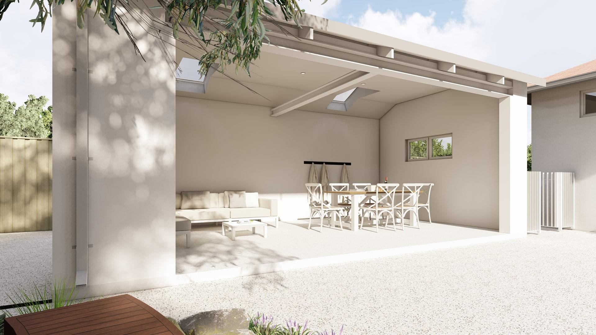 perth pool house 3d landscape design apple cross