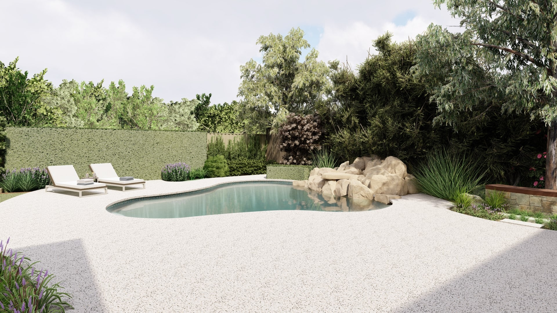concrete pool surrounds perth landscaping concreter