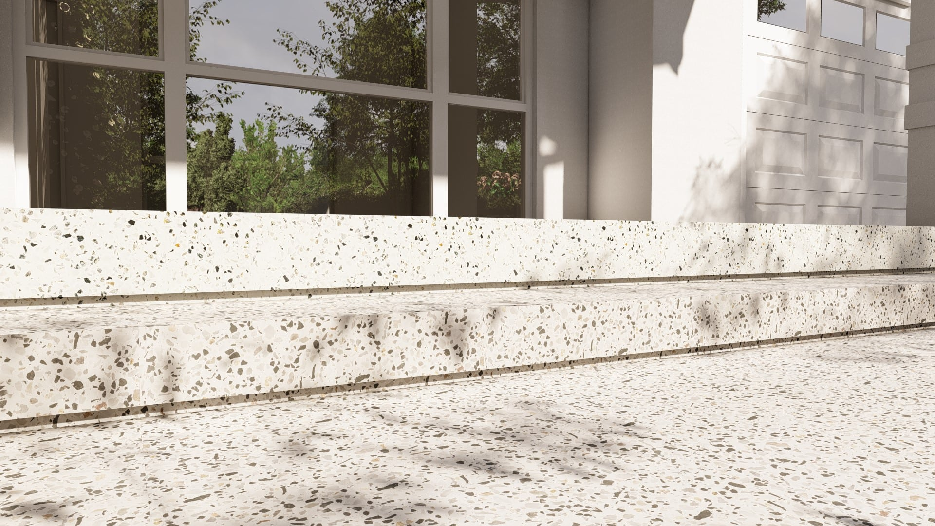 Perth Decorative Concrete verge appeal front pathway exposed aggregate driveway applecross long alfresco porch steps