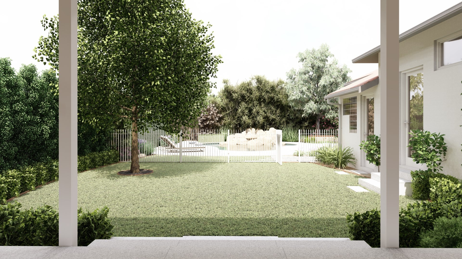 3d Design render from house