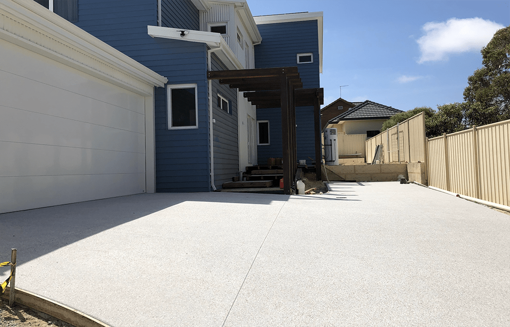 exposed aggregate driveway perth