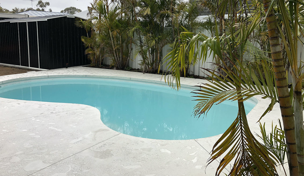 Premier Concrete Perth Honed Concrete Pool Surrounds with Seamless Pool Edge