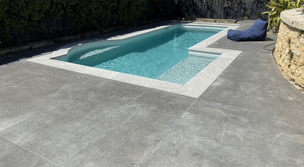 honed concrete pool Perth