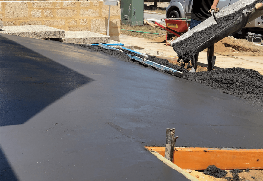 concrete pour in action in scarborough